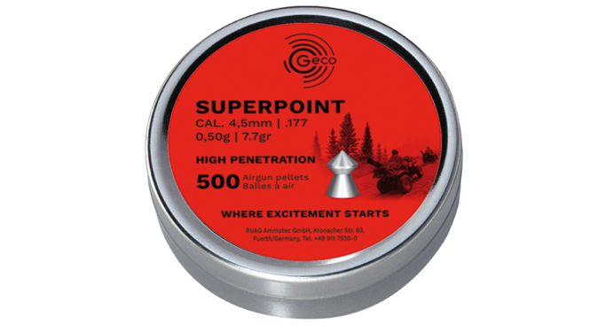 Image of the GECO SUPERPOINT ammunition packaging