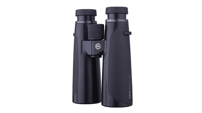 Image of the GECO Binocular Gold 10x50 Black in standing position