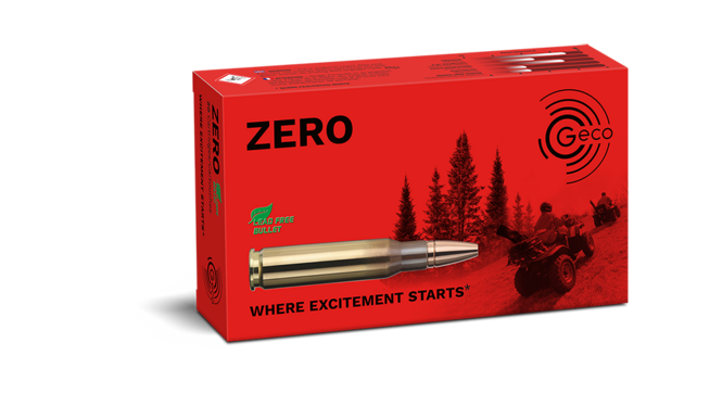 Image of the GECO ZERO ammunition packaging