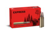 Frontview of ammunition and packaging of GECO 7mm Rem. Mag. Express 10,0g